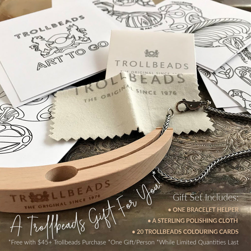 Suzie Q Studio has a treasure vault full of Rare and Retired Trollbeads... and we're making them available to you. Plus if you purchase $45 or more, you'll receive a fabulous Trollbeads Gift Set -- while quantities last so don't delay!
