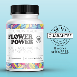 FlowerPower™ Boric Acid Suppositories (30ct)