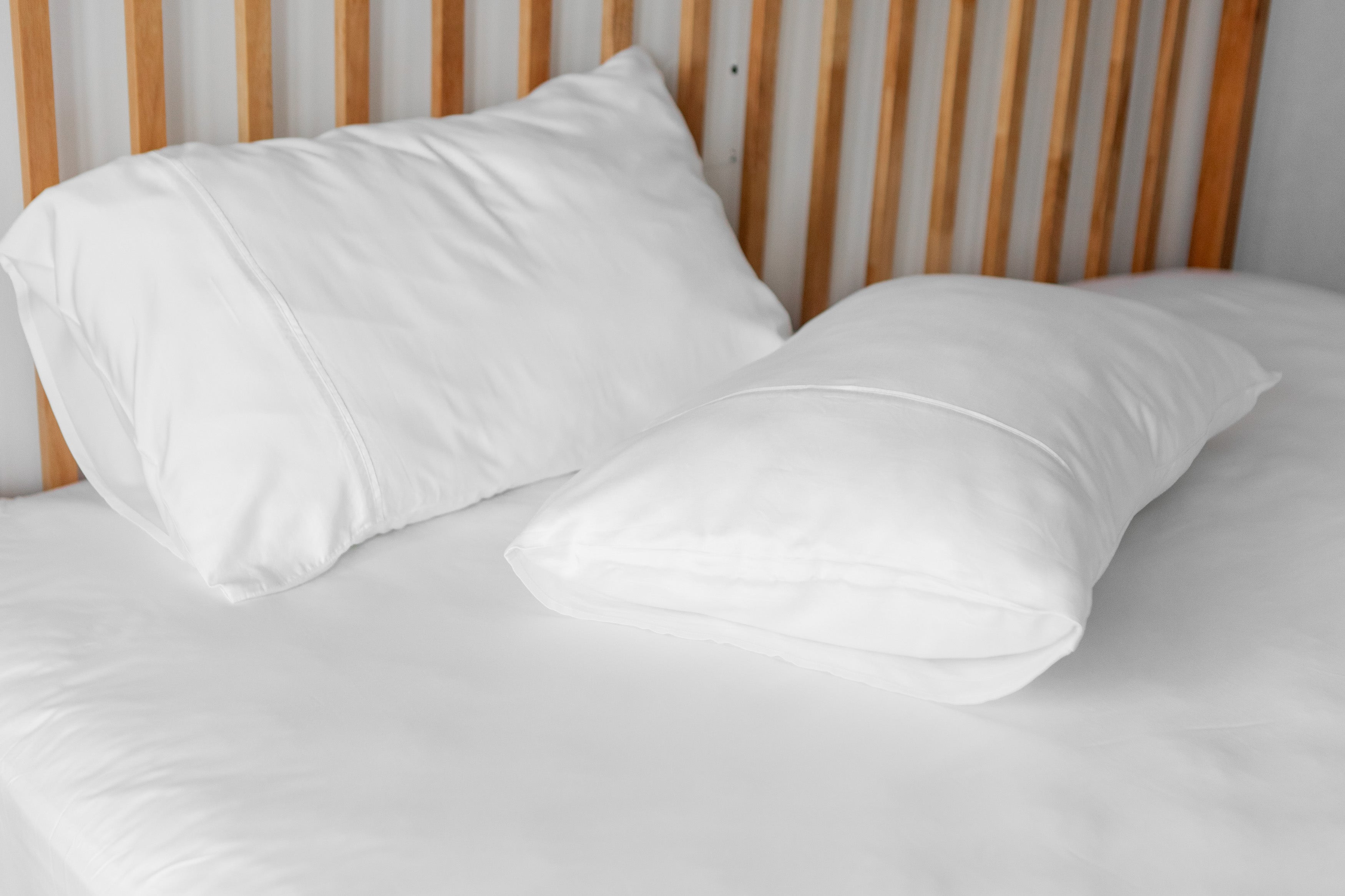 bamboo lyocell pillowcase set in cloud