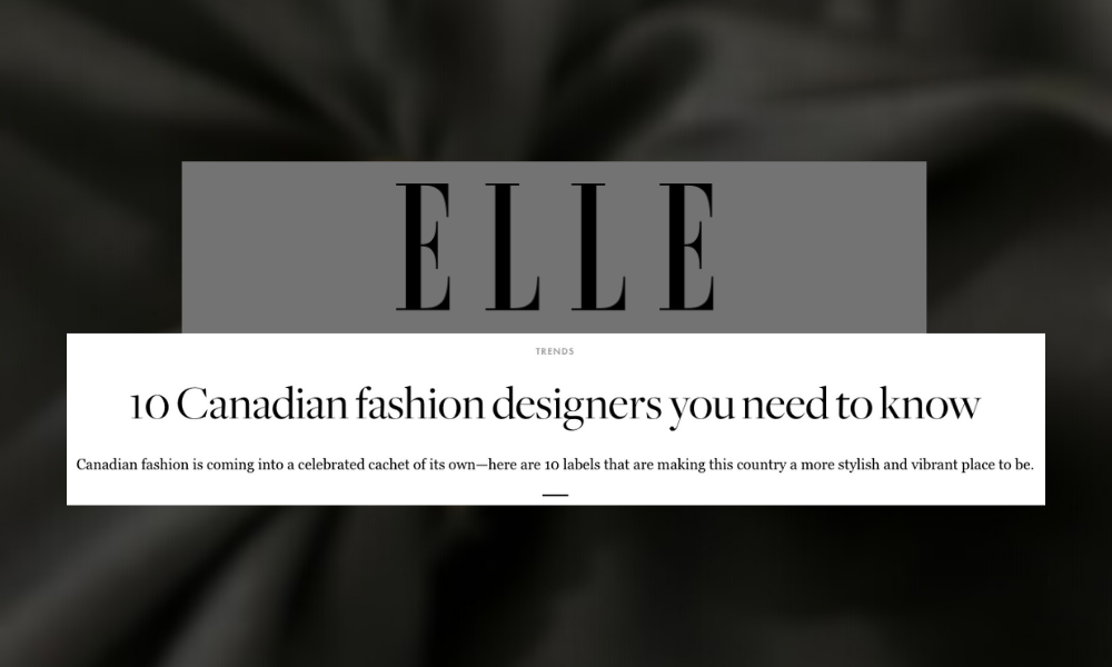 Canadian fashion designers to know elle magazine
