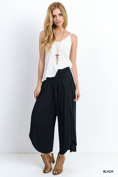 Gaucho Pants with Front Tie.
