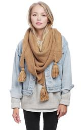 Solid Color Triangle Scarf Tassel Fall Winter.