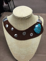 Leather Turquoise Necklace