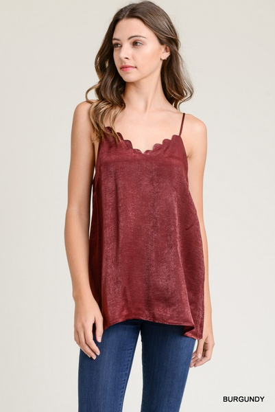 Scalloped Adjustable Tank Top