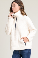 FAUX FUR ZIP PULLOVER