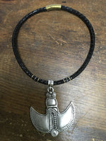 Zamac Ethnic silver and brass necklace