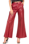 774  FAUX LEATHER WIDE LEGGED PANTS