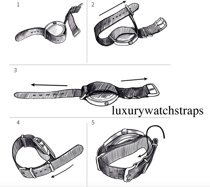 How to attach and tie your NATO strap.