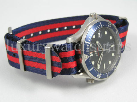 omega seamaster blue and red nato crystal palace fan