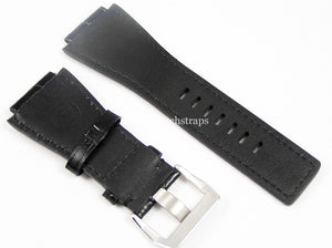 Beautiful Black Handmade leather watch strap for Bell and Ross Watches BR01 BR03 BR05. 24mm.