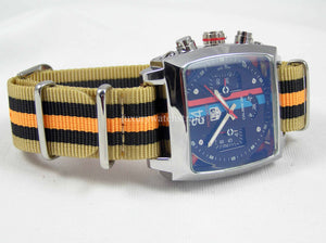 Superb Nato® watch strap for Tag Heuer Monaco watch - different styles