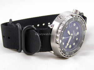 Seiko Tuna Can Marinemaster Prospex Homage Divers Watch NH35 Movement Sterile Dial Blue Sapphire 4 NATO pack