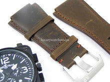 Load image into Gallery viewer, Beautiful Brown Handmade leather watch strap for Bell and Ross Watches BR01 BR03 BR05. 24mm.