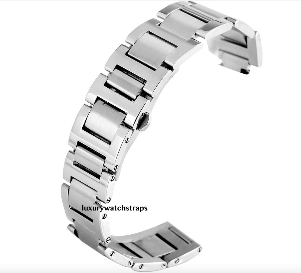 Quality Stainless Steel Strap for Cartier Ballon Bleu 42mm Watch