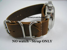 Load image into Gallery viewer, Superb hand made leather brown Zulu watch strap for Panerai PAM RXW Marina Militare Watch Watches 24mm