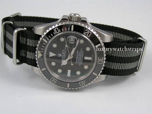 Ballistic Nylon Nato® Spectre Bond strap for Rolex Submariner GMT Yachtmaster Watch