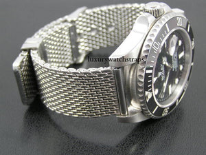 Superior steel shark mesh bracelet strap for Omega Seamaster Speedmaster Planet Ocean Watch 18mm 20mm 22mm NO WATCH