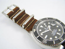 Load image into Gallery viewer, Superb handmade leather Nato® watch strap for Rolex Submariner GMT Yachtmaster Daytona watches