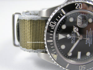 Ultimate Dense Twill Weave NATO® strap for Rolex Submariner GMT Yacht-Master Deep Sea Sea Dweller 20mm (No Watch - Strap ONLY)