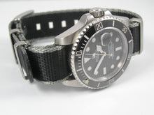 Load image into Gallery viewer, Ultimate Dense Twill Weave NATO®  strap for Rolex Submariner Yacht-Master GMT Daytona Sea Dweller Deep Sea 20mm (No Watch - Strap Only)