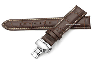 New Leather Deployment watch strap for Citizen Eco Drive watch watches  18mm 20mm 22mm 24mm NO WATCH strap ONLY