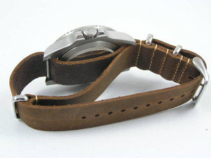 Superb handmade leather Nato® watch strap for Rolex Submariner GMT Yachtmaster Daytona watches