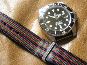 Ultimate Vintage James Bond Dense Twill Weave NATO® Double strap for Rolex Submariner Yacht-Master GMT Daytona 20mm (NO Watch - Strap Only)