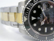 Load image into Gallery viewer, Superb bi- metal, two-tone stainless steel watch strap for Rolex Oyster watch 20mm. NO WATCH