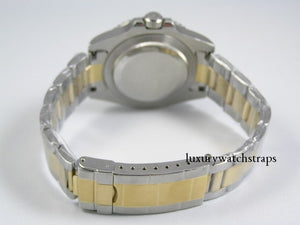 Superb bi- metal, two-tone stainless steel watch strap for Rolex Oyster watch 20mm. NO WATCH