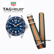 Load image into Gallery viewer, Superb Nato® watch strap for Tag Heuer Aqua Racer Formula One Carrera watch (No watch - STRAP only)