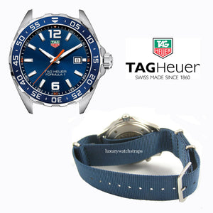 Superb Nato® watch strap for Tag Heuer Aqua Racer Formula One Carrera watch (No watch - STRAP only)