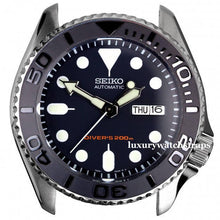 Load image into Gallery viewer, Custom made gun metal - dark grey Rolex bezel (bezels) for Seiko Divers Watch 6309 7002 7S26 SKX007 SKX009