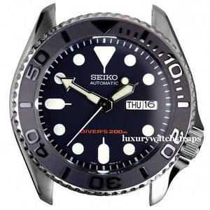Custom made gun metal - dark grey Rolex bezel (bezels) for Seiko Divers Watch 6309 7002 7S26 SKX007 SKX009