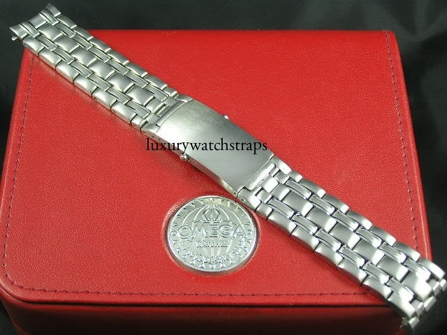 Heavy solid steel strap for Omega Seamaster, Planet Ocean, 007.  Solid end links. 316L premium grade. 20mm (No Omega markings)