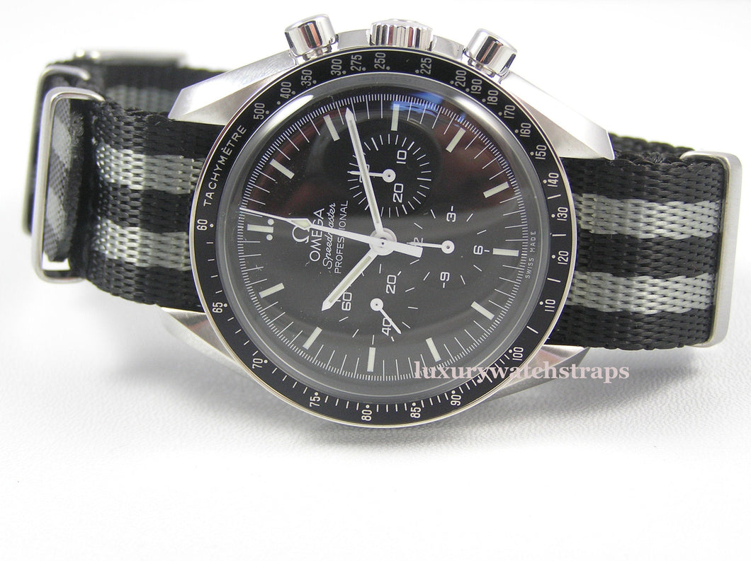 Ultimate James Bond Spectre Dense Twill Weave NATO® strap for Omega Speedmaster Moon Watch 20mm (NO watch. STRAP only)
