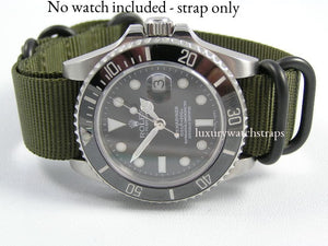 Ballistic nylon Zulu G10 Nato® strap for Tag Heuer Aquaracer Formula 1 Carrera Monaco Watch (NO WATCH included!)