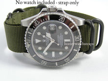Load image into Gallery viewer, Ballistic nylon Zulu G10 Nato® strap for Tag Heuer Aquaracer Formula 1 Carrera Monaco Watch (NO WATCH included!)