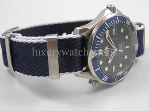 Ultimate Dense Twill Weave NATO® strap for Omega Seamaster Speedmaster Planet Ocean Watch 20mm 22mm(No Watch - Strap Only)