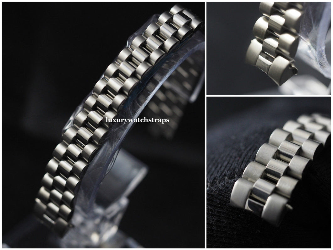 Stainless Steel Bracelet Strap for Rolex Ladies President Datejust Watch 13mm. High quality replacement bracelet.
