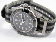 "Load image into Gallery viewer, Dense Weave™ ""Reverse Bond"" Spectre NATO®  strap for Rolex Submariner Yacht-Master GMT Daytona Deepsea 20mm (No Watch - Strap Only)"
