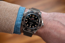 Load image into Gallery viewer, Superior steel Milanese James Bond No Time to Die mesh bracelet strap for Omega Seamaster Planet Ocean 20mm 22mm NO WATCH