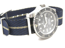 Load image into Gallery viewer, Custom made ultimate refined cross weave watch strap for Rolex Submariner GMT Deep Sea Yachtmaster Watch 20mm