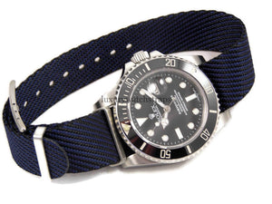 Custom made ultimate refined cross weave watch strap for Rolex Submariner GMT Deep Sea Yachtmaster Watch 20mm