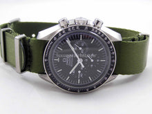 Load image into Gallery viewer, Ultimate Dense Twill™ Weave NATO® strap for Omega Speedmaster Moon Watch 20mm Military Green (NO watch. STRAP only)