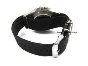 Superb hand made leather black NATO® watch strap for Rolex submariner GMT watches 20mm (NO Watch)