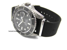 Load image into Gallery viewer, Superb hand made leather black  Nato®watch strap for Omega Planet Ocean 22mm