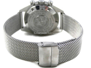 Superior steel refined mesh bracelet strap for Omega Speedmaster Watch 20mm (NO WATCH)