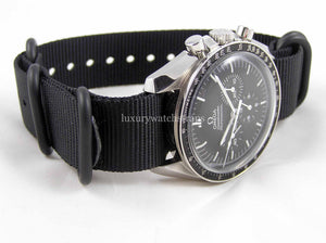 Black Ballistic nylon Zulu G10 Nato® strap for Omega Speedmaster Seamaster Planet Ocean 18mm 20mm 22mm NO WATCH