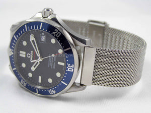 Superior steel refined mesh bracelet strap for Omega Seamaster Watch 20mm (NO WATCH)