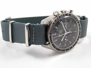 Gun metal ballistic nylon Nato® watch strap for Omega Speedmaster NO WATCH